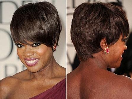 Viola Davis haircut Golden Globes 2012