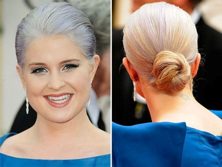 Kelly Osbourne hairstyle Golden Globes 2012