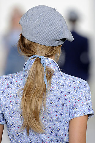 Ralph Lauren ponytail look