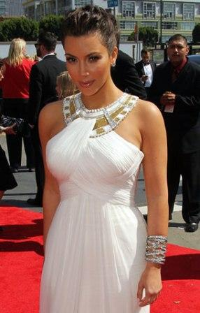 Kim Kardashian Hairstyle at Emmy 2010