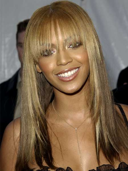 Beyonce Straight Hairstyle