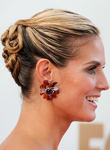 Heidi Klum Chic Hairdo Emmy 2011