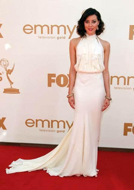 Aubrey Plaza classy hairdo Emmy 2011