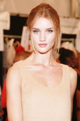 Rosie Huntington Whiteley updo at Michael Kors