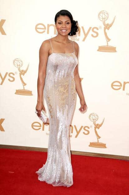 Taraji P. Henson elegant updo Emmy 2011