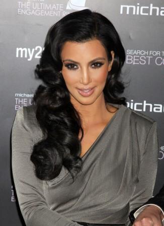 Kim Kardashian Old Hollywood Hairstyle