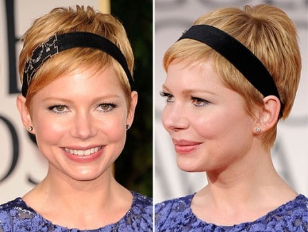 Michelle Williams haircut Golden Globes 2012